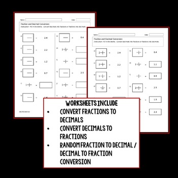 Writing Decimals As Fractions, Convert And Color Mystery Picture Activity