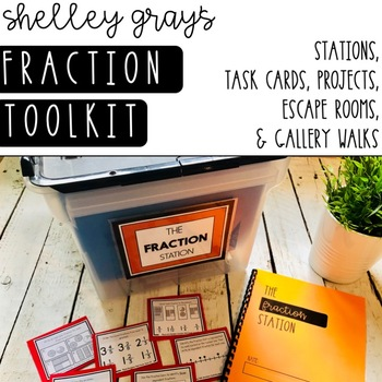 Fraction Tool Kit: Fraction Stations, Task Cards, and Gallery Walks