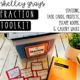 Fraction Tool Kit: Fraction Stations, Task Cards, and Gall