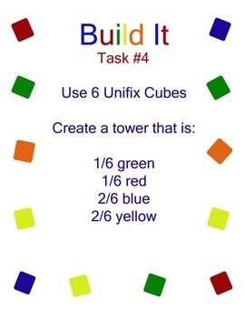 Fraction Towers Task Cards:  3.NF.A.1 & 3.NF.A.3