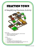 Fraction Town: A Simplifying Fractions Card Sort & Game
