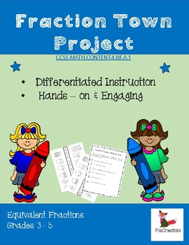 Fraction Town Project ~ Exploring Equivalent Fractions