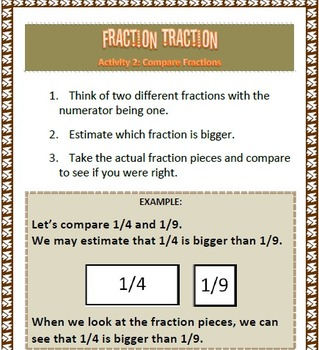 Fraction Traction Fraction Activities for Grades 3 to 5