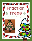 Adding and Subtracting Fractions Christmas Tree Craftivity (With Mixed Numbers)
