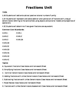 Fraction Unit Bundle (59 pages)