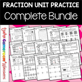 Fraction Unit Worksheet Bundle