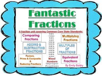 Fraction Unit - Common Core Aligned