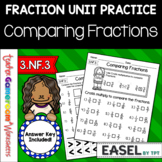 Fraction Unit - Comparing Fractions Worksheet