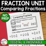 Fraction Unit - Comparing Fractions Worksheet