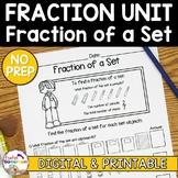 Fraction Unit - Fraction of a Set Worksheet