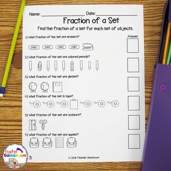 Fraction Unit - Fraction of a Set Worksheet by Teacher ...