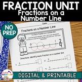 Fraction Unit - Fractions on a Number Line Worksheets