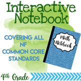 Fraction & Decimal Unit Interactive Notebook 4.NF