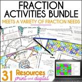 Fraction Activities Bundle, Grades 4-6