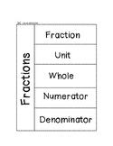Fraction Vocab Foldable