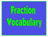 Fraction Vocabulary Cards