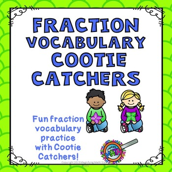 Fraction Vocabulary Cootie Catcher