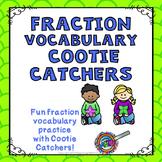 Fraction Vocabulary Cootie Catcher