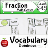 Fraction Vocabulary Dominoes Math Center Activity