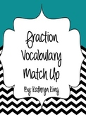 Fraction Vocabulary Flash Card Matching Game