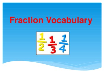 Fraction Vocabulary PPT