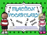 Fraction Vocabulary and Graphic Organizer