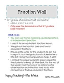Fraction Wall~3rd Grade Edition