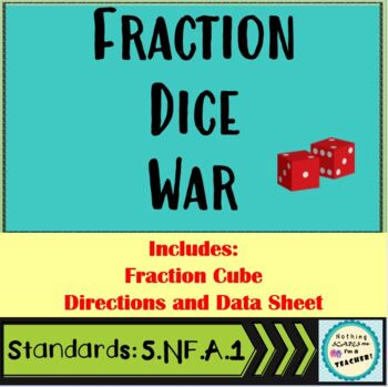 Fraction War- Adding Fractions Card Game Activity