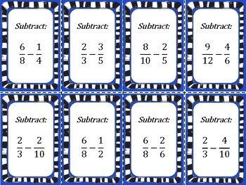 Fraction War: Addition and Subtraction