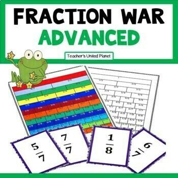 Fraction Games - Fraction War - Advanced
