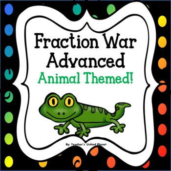 Fraction Games - Fraction War Advanced - Animal Themed!