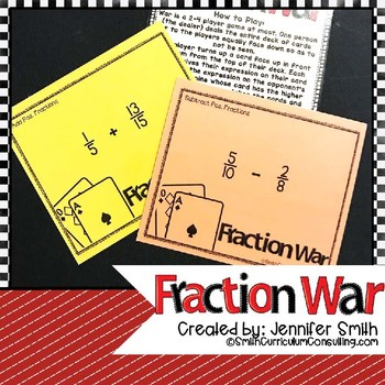 Fraction War - All Operations with Positive Fractions