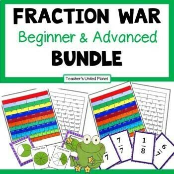 Fraction Games -Fraction War Bundle - Beginner and Advanced
