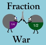 Fraction War - Comparing Fractions Practice Game (4.NF.A.2)