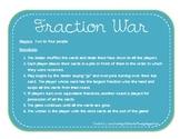 Fraction War - Math Center