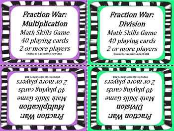 Fraction War: Multiplication and Division