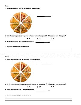 Fraction Warm Up Activity