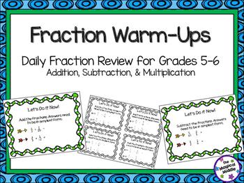 Fraction Warm-Ups