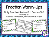 Fraction Warm-Ups