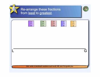 Fraction Warm-Ups: 25 Interactive SmartBoard Activities for Grades 3-5