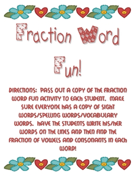 Fraction Word Fun