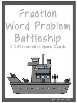Fraction Word Problem Battleship