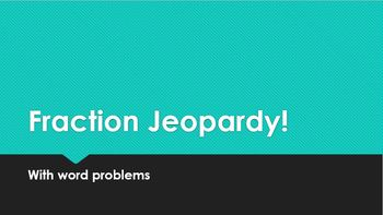 Fraction Number Story Jeopardy