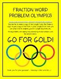 Fraction Word Problem Olympics