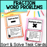 Fraction Word Problem Operations Sort & Solve