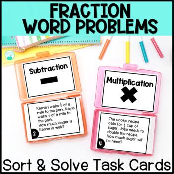 Fraction Word Problem Operations Sort & Solve
