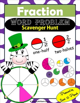 Fraction Word Problem Scavenger Hunt