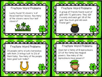 Fraction Word Problem Task Cards
