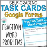 Fraction Word Problem Task Cards Google Form Distance Learning