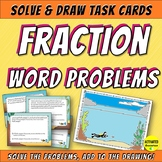 Fraction Word Problem Color by Answer Task Cards